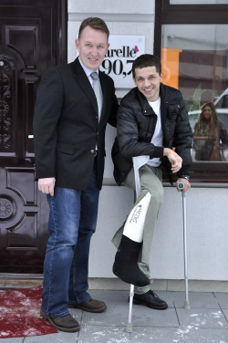 Chiar daca are piciorul in ghips Boris Covali ne-a facut o vizita!