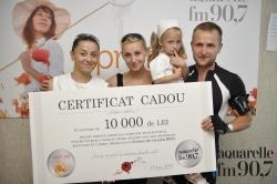Serghei Zberea - castigatorul unui certificat de 10 000 de lei, oferit de Sancos si Aquarelle fm!