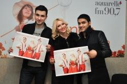 "Olia Tira, Max Zavidia si Samir au prezentat o piesa noua ""Падает снег"" pe Aquarelle FM!"