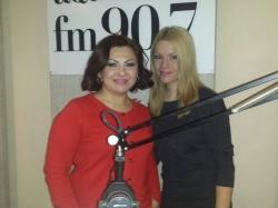 "Geta Burlacu a prezentat piesa ""E timpul"" in direct cu Alina Dabija pe Aquarelle FM!"