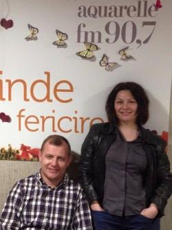 Interpretii Geta Burlacu si Aurel Chirtoaca au venit la un interviu in ospetie pe Aquarelle FM!