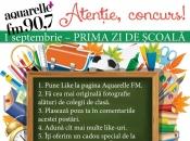 În prima zi de școală Aquarelle FM te premiază!