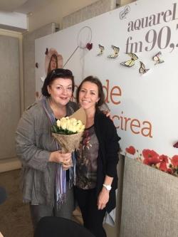 Nona Marian a fost in emisie pe Aquarelle FM cu profesoara sa de la liceul Ciprian Porumbescu
