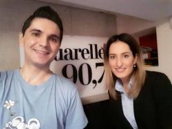 "Interpreta Carolina Gorun a prezentat piesa ""Cer senin"" in premiera pe Aquarelle FM!"